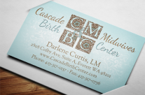 Cascade Midwives Logo &amp; Business Card
