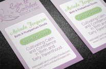 Calm Confident Doula Logo &amp; Business Card
